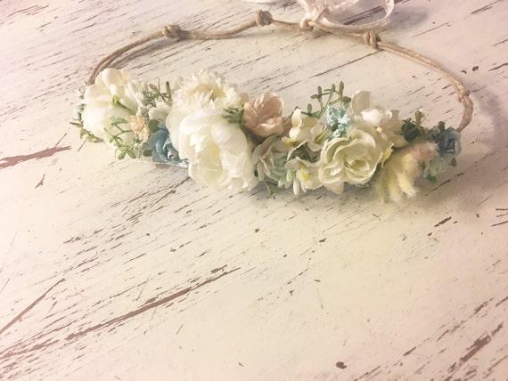 Naomi Rain flower crown- Flower crown- Baby flower crown