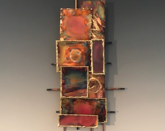 Abstract Modern Splash Copper Hanging Mobile New Gift