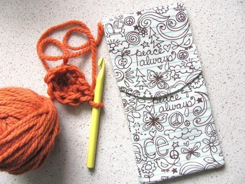 Crochet Hooks Holder Knitting Needle Case Circular Needle Etsy