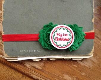 BABY'S 1st CHRISTMAS Headband, Christmas Headband, My 1st Christmas, Headband, Baby Christmas Headband, Headbands for Babies, Baby Headbands