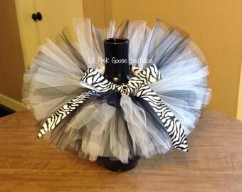 BLACK and WHITE Tutu, Zebra Print Tutu, 1st Birthday Tutu, 2nd Birthday Tutu, Newborn Tutu, Photo Prop, Tutus for Children, Animal Print