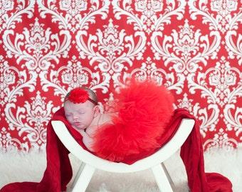 RED TUTU with Sparkle Headband, Newborn Tutu, Baby Tutu, Christmas Tutu Set, Newborn Photography Prop, Photo Prop, Tutus for Children
