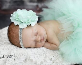 MINT TUTU with Sparkle Headband, Newborn Tutu, Baby Tutu, Infant Tutu, Newborn Photography Prop, Photo Prop, Tutus for Children, Birthday