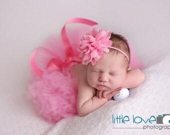 TAFFY PINK TUTU with Headband, Pink Tutu Set, Newborn Tutu, Baby Tutu, Infant Tutu, Newborn Photography Prop, Photo Prop, Tutus for Children