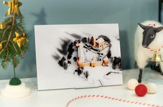 Acrylic photo print of a Trakai castle, castle print, winter print, castle wall art, bathroom wall art, modern wall art, Lithuania print