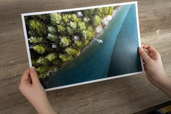Forest lake print, forest art print, forest fine art, Lithuania nature, mindfulness gift, Lake Print, Forest Wall Art, japandi wall art