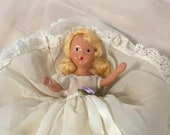 Nancy Ann Story book doll, 7 quot , 1930 39 s composition, mohair wig