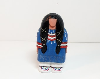 Sioux Native American gift present Christmas tree ornament collectible