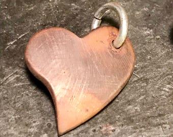 Rustic copper heart