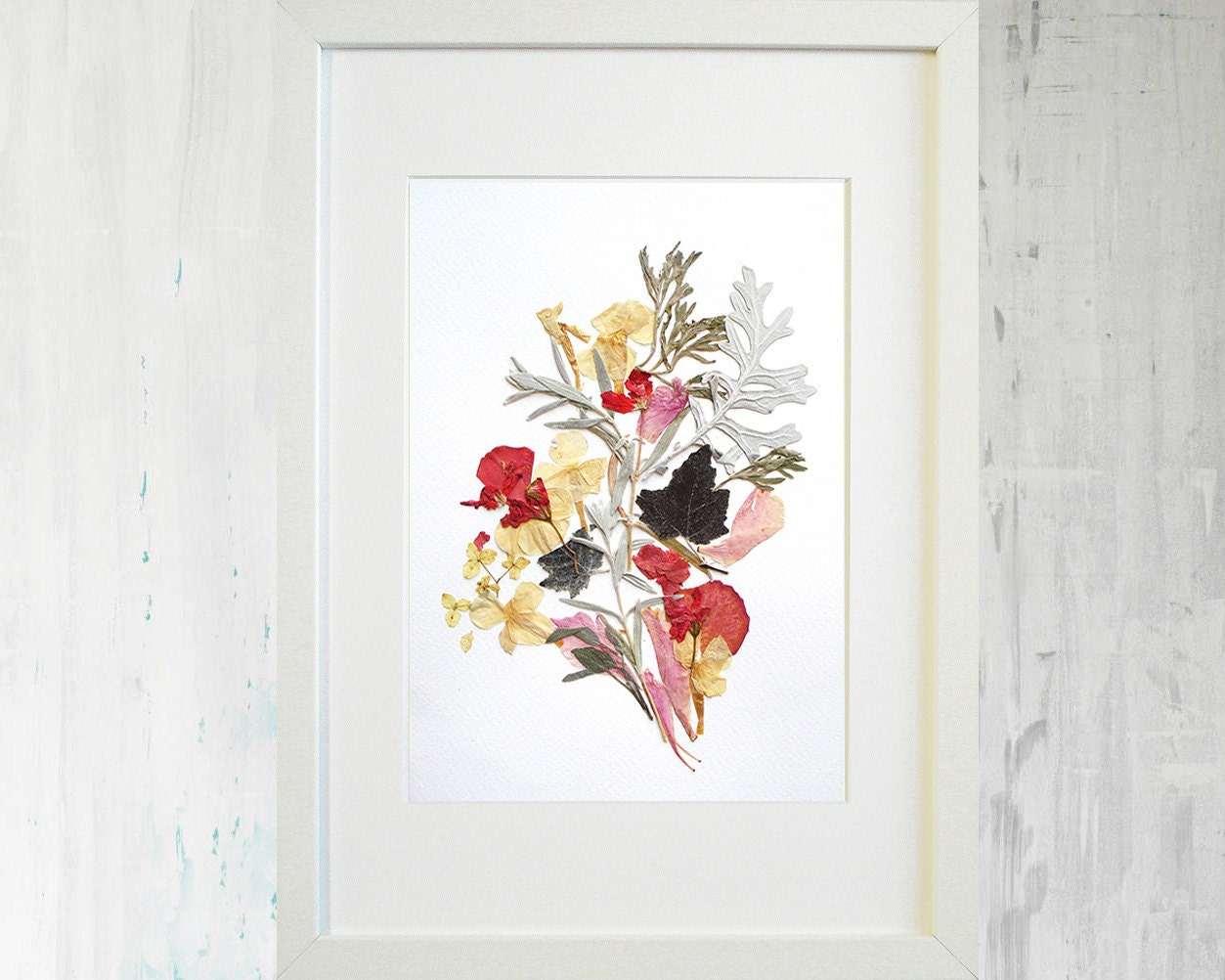 Blume Druck botanischen Druck gepresste Blume Art getrocknete | Etsy