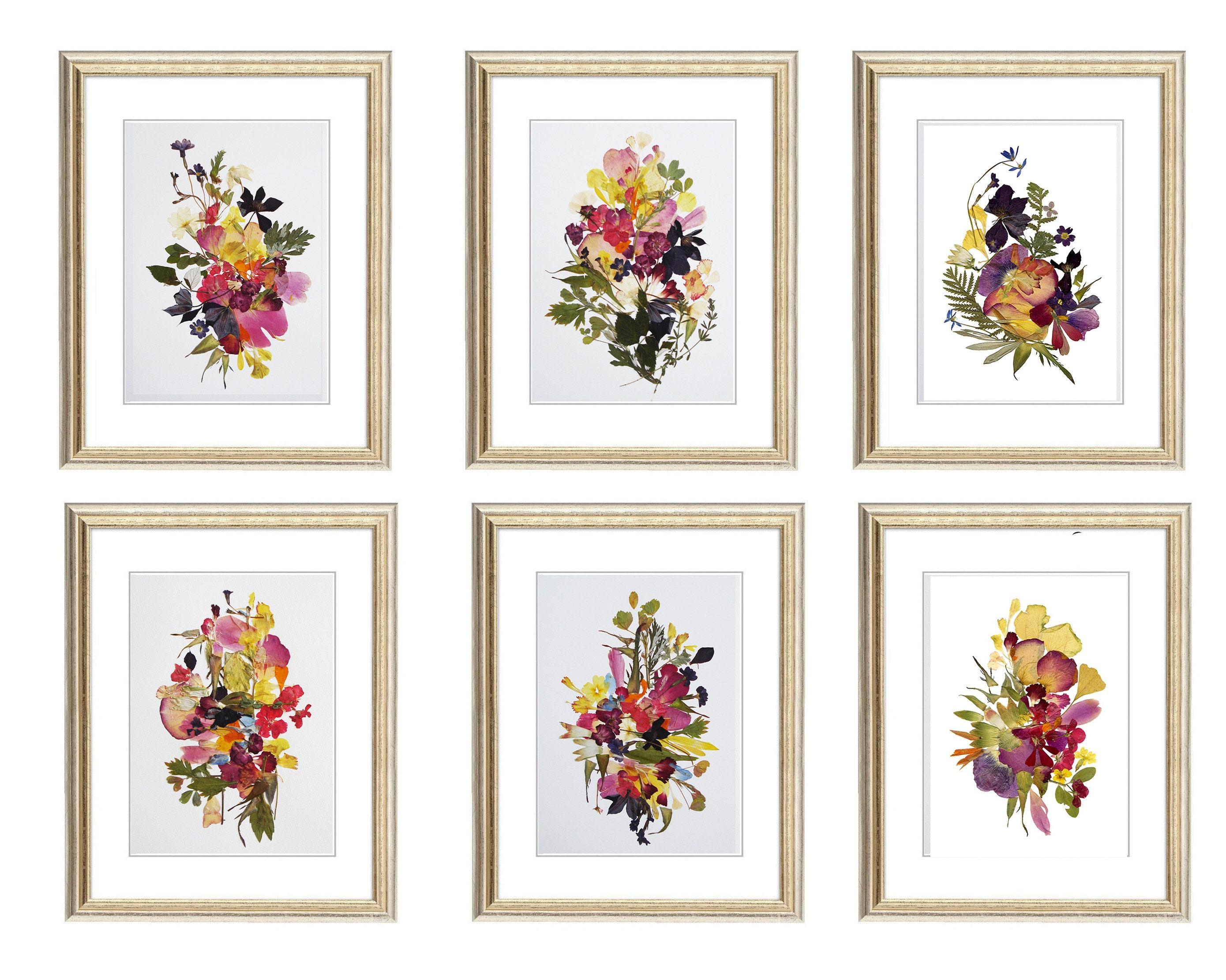 Gerahmtes Set von 6 botanische Drucke gepresste | Etsy