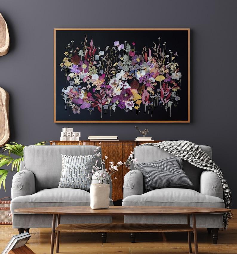 RESERVED for Etsy Design Award Pressed flower art Botanical Style 1