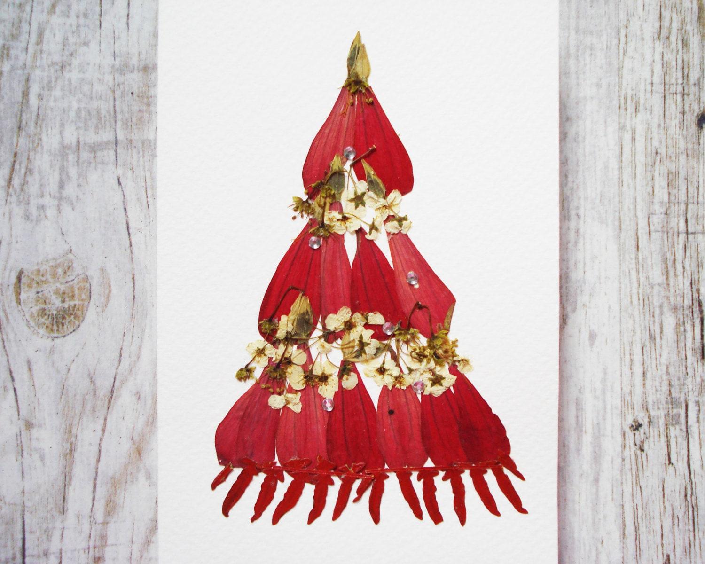 Christmas card Botanical print Christmas Print Floral holiday | Etsy