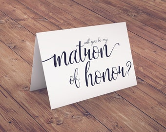 Will You By My Matron of Honor? Instant Download