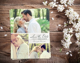 Save The Date Magnet, Card or Postcard . 3 Pictures