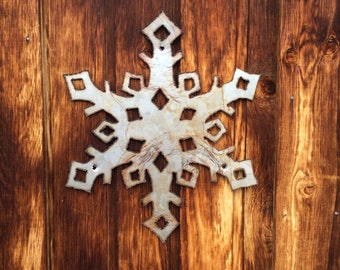 Recycled Steel Snowflakes
