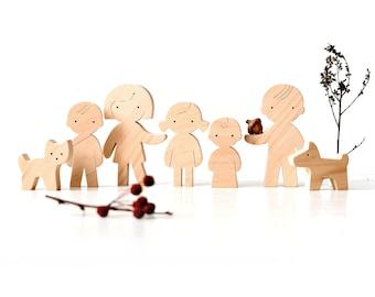 Wooden Family Figures - Family Gift