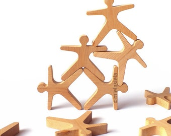 Wooden Stacking Balance Game ACROBATS® by Mielasiela