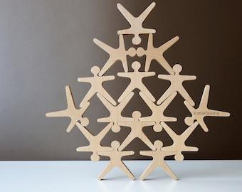 Wooden Stacking Game - Balancing ACROBATS® by Mielasiela