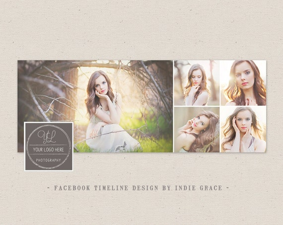 Facebook Timeline Cover Clean Photography Photoshop Template Etsy