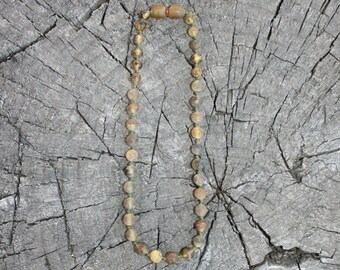 Teething Necklace, Green Baltic Amber- Bracelet, Anklet, or Bellychain - Raw Unpolished (children and adult sizes)