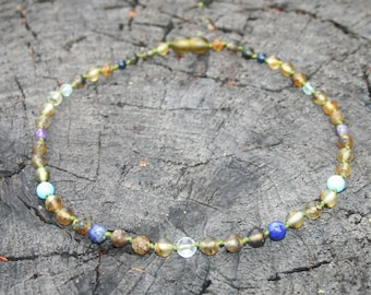 Migraine Style Baltic Amber Necklace, Bracelet, Anklet, or Waist Beads, Raw & Unpolished - Made to Order in Any Length