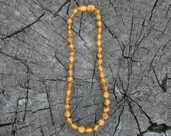 Baltic Amber, Honey, Teething Necklace,  Unpolished - Bracelet, Anklet, or Bellychain (children and adult sizes)