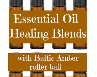 Baltic Amber Roller Balls and Essential Oil Blends, Aromatherapy