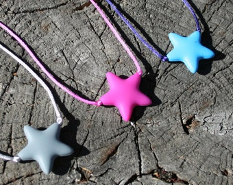 Sensory Necklace Chewable for Children with Star Pendant