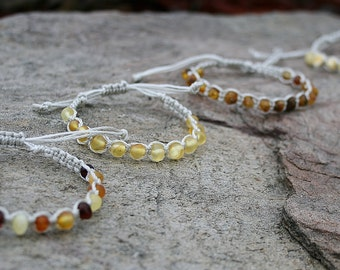 Baltic Amber, Teething Bracelet, Amber Bracelet, Teething Anklet, Teething Bracelet, Amber Bracelet, Children and Adults