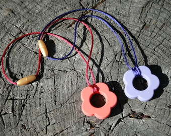 Sensory Necklace with Flower Pendant