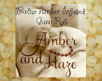 Baltic Amber Infused Teething Gum Oil Rub- 2 recipes to choose from