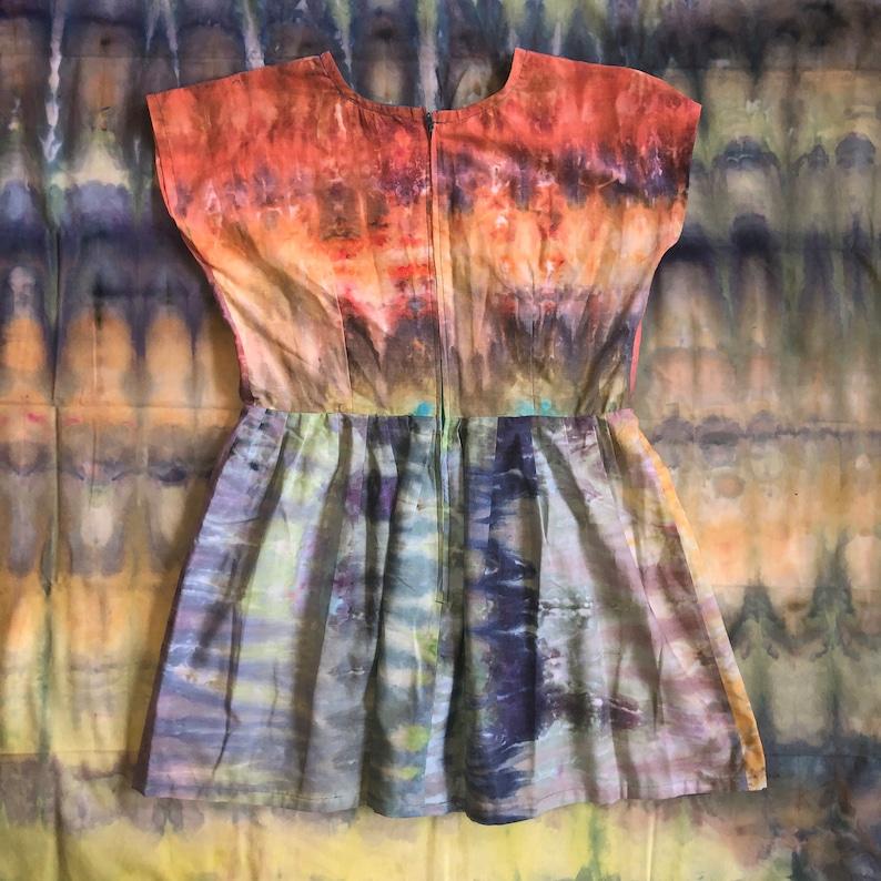 sz 14 handmade ice dyed dress plus size