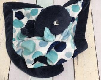 Baby blanket, baby Animal lovie, blue whale, , blankey, personalized  lovie, baby shower gift, monogram baby gift, monogram blankie,