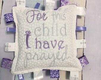 Baby baptism gift, lavender,  religious  keepsake,  keepsake,  christening gift, personalized  baptism monogram pillow, christening pillow