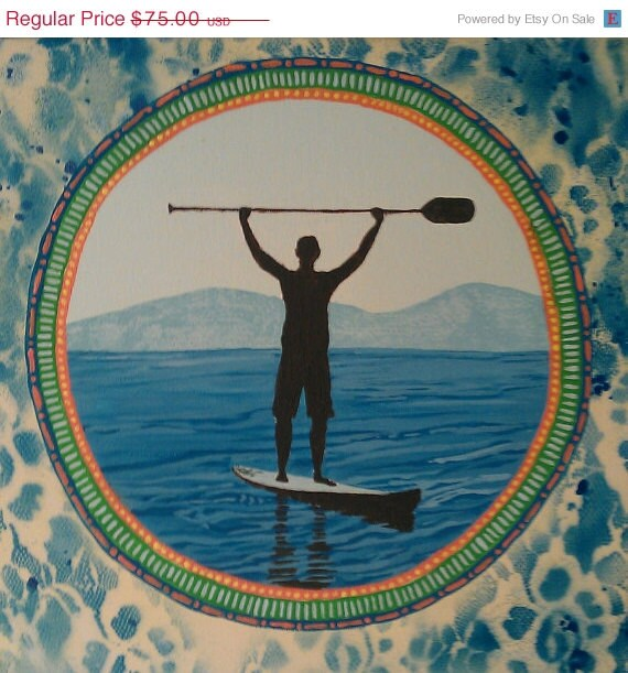 i Can paddle 5 x 7 digital print card