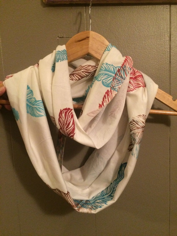 Spirit Feather Bamboo/Organic cotton infinity scarf