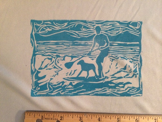 Dawg on Board hand printed Stand up Paddle shirt