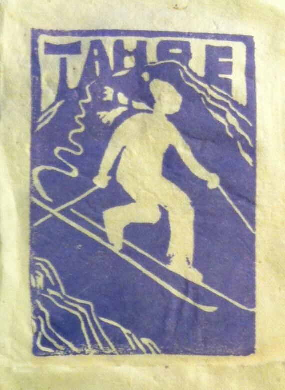 Tahoe Tele Skier 4 x 6 print