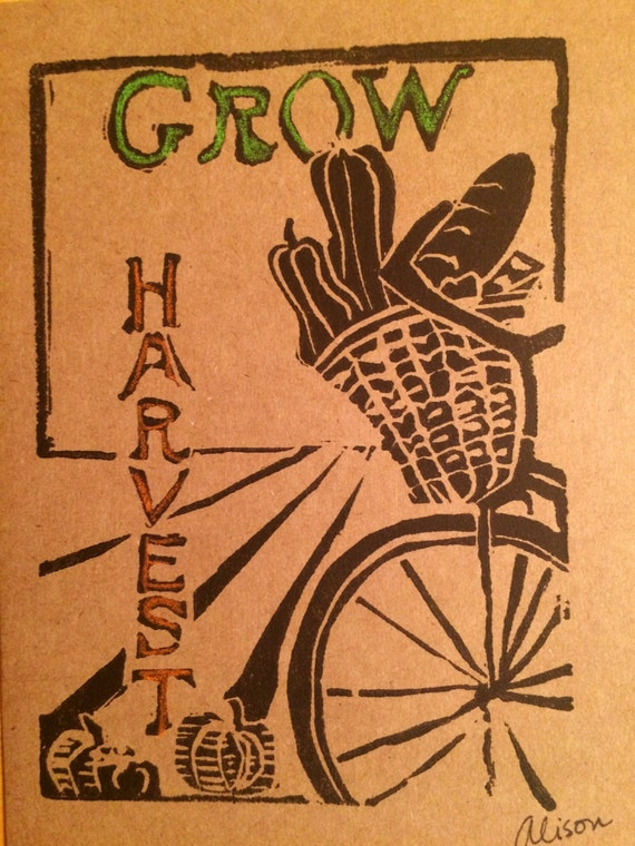 Grow 5 x 7 printed card