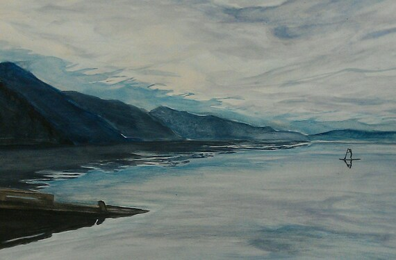 Dawn Patrol 15 x 22 watercolor