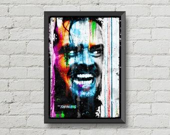 The shining,movie poster,jack nicholson,art,artwork,digital print,movie,poster