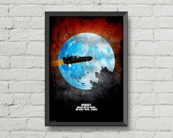 Back to the Future,poster,print,digital print,DeLorean,home decor,art,movie poster,moon,sky,movies quotes