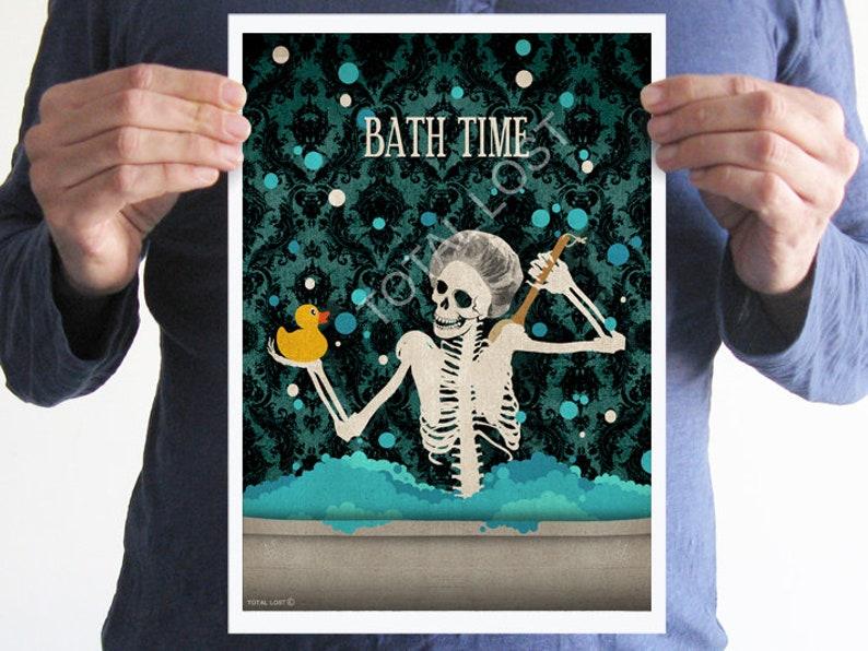 Bathroom decor,Bathroom poster,skulls art,gothic decor,home decor,wall decor,bathroom decor,bathroom sign,bath decor,gotic prints,gothic art