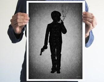 Kids today,Boy,digital print,artwork,art,wall decor,home decor,silhouette,black and white,gothic art,victorian,horror,poster,print,skulls