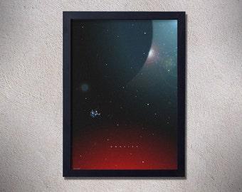 Gravity,movie poster,space,stars,astronaut,movie,digital print,Sandra Bullock,george clooney,wall decor,home decor