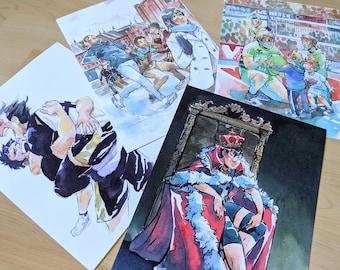 "Haikyuu Watercolor Prints: 8.5"" x 11"" Prints"