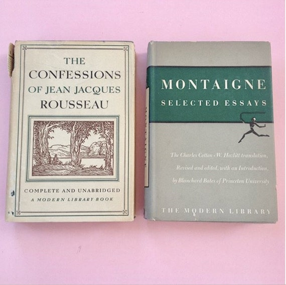 Confessions Of Jean Jacques Rousseau  Montaigne Selected  Etsy Image  Restaurant Business Plan Writers also Persuasive Essay Paper  A Modest Proposal Essay Topics