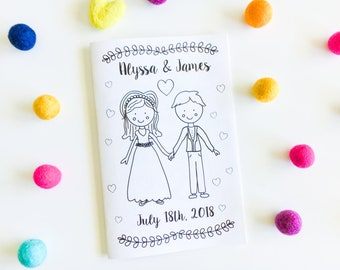 Wedding coloring | Etsy