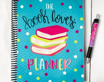 The Book Lover's Planner - Bookish Planner - Book Reviews - Book Lover Gift - Reading Planner